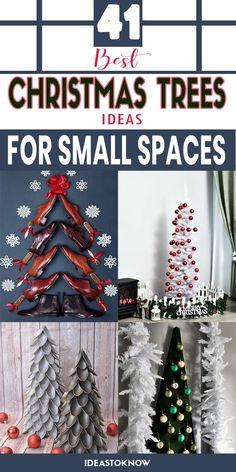 Christmas Displays, Small Christmas Trees, Christmas Tree With Gifts, Christmas Tree Themes, All Things Christmas, Christmas Wreaths, Christmas Planning, Christmas On A Budget, Simple Christmas
