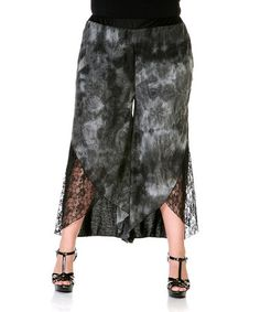 Another great find on #zulily! Gray Lace Gaucho Pants - Plus #zulilyfinds