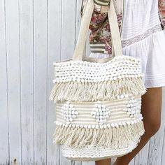 Avalon Bag- White/Natural