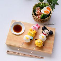 Tsum Tsum Sushi - Little Miss Bento Comida Disney, Disney Food, Japanese Food Art, Japanese Sweets, Bento Recipes, Baby Food Recipes, Cute Bento Boxes, Kawaii Cooking, Kawaii Bento