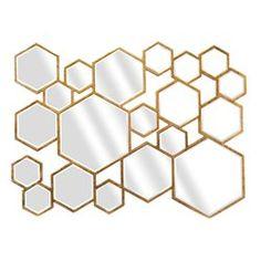 Miroir Design Hexagones