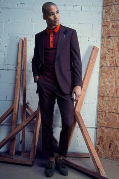 Malik wears suit Gian-Paolo Mazzotta, polo shirt Burberry London and shoes Jimmy Choo.