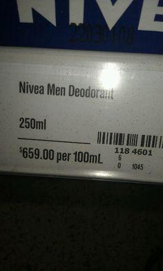 Nivea for men...Must smell nice for $659 per 100ml!