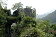 A corner of the Vicalvi castle ruins (Italy)