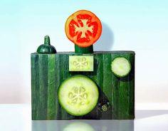 Fruit and Vegetable sculpture by Dan Cretu (2)