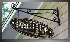 Barber Pole Barber Shop Beauty Shop Business by sealevelsigns, $97.00 This style of sign would look nice on the shop over the barber pole