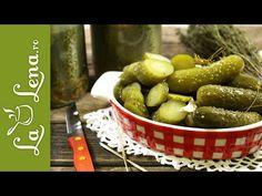 Castraveti murati in saramura, la borcan - Reteta VIDEO Canning Pickles, Vegan Recipes, Cooking Recipes, Cucumber, The Creator, Meals, Make It Yourself, Fruit, Youtube