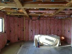 Kitchen insulation in progress