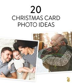 20 trendy family photo ideas that will fill your Christmas card with extra merry this year.