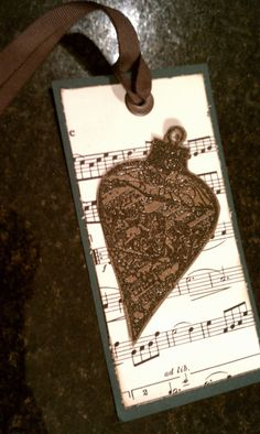 Christmas Wine or Gift Tag reclaimed upcycled by Kimholmes on Etsy, $2.00