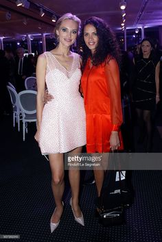 Models Inna Zobova and Noemie Lenoir attend the Sidaction Gala Dinner 2016 as part of Paris Fashion Week. Held at Pavillon d'Armenonville on January 28, 2016 in Paris, France.