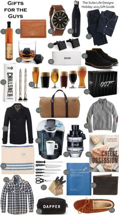 Holiday gift Guide for the Guys. 25 great ideas