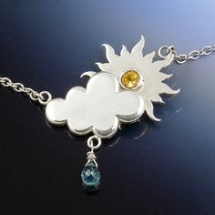 Silver Rain or Shine Necklace by LaurenGraceJewellery on Etsy, $280.00