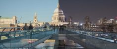 Franck Matellini, from Paris, shot footage of some of London's most famous landmarks, including Big Ben and St Paul's Cathedral