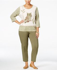 26.98$  Watch here - http://vighr.justgood.pw/vig/item.php?t=mo727f14559 - Alfred Dunner Plus Size Cactus Ranch Collection
