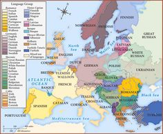 Languages of Europe in 1910. Image source: