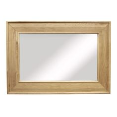 Provence Solid Oak Large Rectangular Mirror - - Mirror - Ametis - Space & Shape - 1