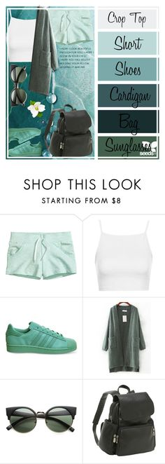 """""""Palette Look"""" by chica-bunny ❤ liked on Polyvore featuring H&M, Topshop, adidas, WithChic, ZeroUV and Le Donne"""