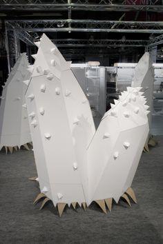 Paper installation - Le Creative Sweatshop.