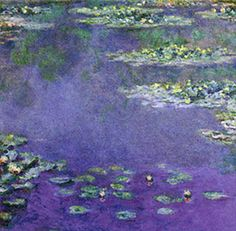 """water lilies """"People discuss my art and pretend to understand as if it were necessary to understand, when it's simply necessary to love."""" -- Claude Monet"""