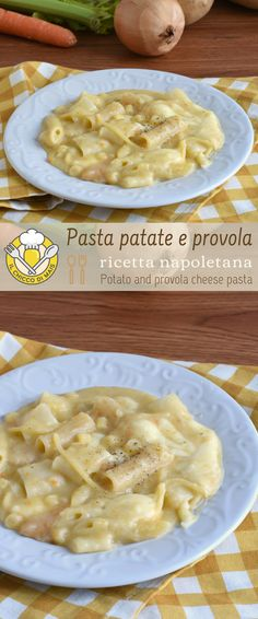 Pasta e patate alla napoletana Neapolitan pasta and potatoes with smoked provola: the first dish of Best Italian Dishes, Italian Recipes, Wine Recipes, Pasta Recipes, Cooking Recipes, Gnocchi, Italy Food, Fast Dinners, Latest Recipe