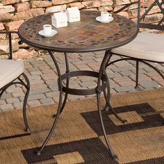 bistro tables and chairs chair covers for recliners uk 104 best images cafe palazetto mosaic table patio furniture sale outdoor sets