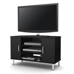 White Tall TV Stand, for TVs up to 25\