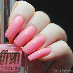 Saffron 56: BunnyTailNails: Sanna Tara Nail Art - Saffron 21 + 48 + 56... Just Peachy!