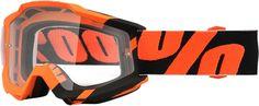 100% MX Accuri Motocross Goggle Anti-Fog Clear Lexan Lens - Adult