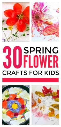 Easy flower crafts for kids to make in spring. Simple DIY art ideas for Mothers day. Everything from handprints to coffee filter and cup cake liners flowers and real flower crafts. Lovely for toddlers and preschool. Flower Crafts Kids, Spring Crafts For Kids, Crafts For Kids To Make, Toddler Crafts, Kids Crafts, Toddler Play, Family Crafts, Kids Diy, Decor Crafts