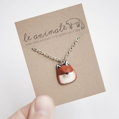 Le Red Fox Petite Necklace from le animalé