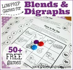 FREE Games for Blends and Digraphs | This Reading Mama
