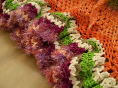 Flamenco Crochet Dress Orange Green Purple by subrosa123 on Etsy