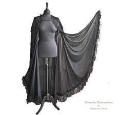 Cape stretchvoile with lace, black, Halloween, Victorian, Somnia Romantica by Marjolein Turin