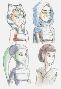 Young Jedi sketches by Raikoh-illust on DeviantArt
