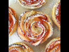 Rosas de hojaldre y manzana | Cocinar en casa es facilisimo.com