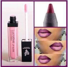 Get this ombré lip look using younique LOVEABLE lipgloss and pompous lip liner £12 each order at www.youniqueproducts.com/Kelparker