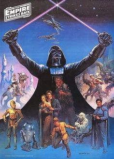 In 1980, Burger King/Burger Chef released these Empire Strikes Back posters. The art was done by renowned fantasy artist Boris Vallejo.