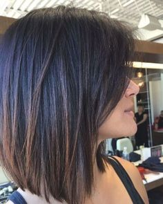 Bob Hairstyles For Thick, Haircut For Thick Hair, Hairstyles Haircuts, Bob Haircuts, Haircut Bob, Medium Hair Styles, Short Hair Styles, Short Hair Cuts, Haircuts For Medium Length Hair Straight