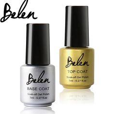 Belen New 7ml UV Nail Gel Polish Primer Foundation for UV Gel Base And Top Coat UV Gel Nail Art Beauty Polish LED Lamp Needed