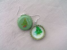I wish all of you Happy, Blessed and Peaceful Christmas with these 'Singing Christmas Tree' earrings! Bottle Cap Earrings, Drop Earrings, Singing Christmas Tree, Christmas Tree Earrings, Earring Tree, Are You Happy, Blessed, Drop Earring
