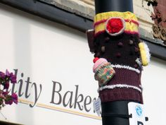 Lol yarn bombing... this would be awesome to do on the Clemson Campus if there were enough knitter and crocheter's!