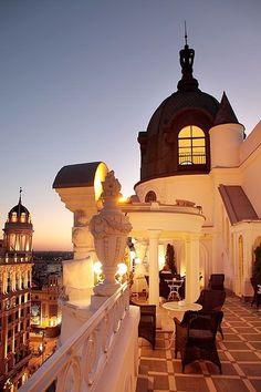 Terraza Hotel Atlantico,Gran Vía, Madrid, Spain