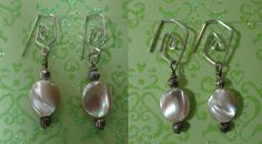 Mother of pearl earring charms on Sterling silver earwires. same bottoms just change the look that easy