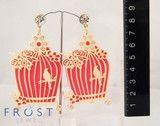 Birdcage earrings in pink