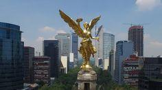 El Ángel de la Independencia en la Ciudad de México. | 32 Imágenes aéreas que te enamorarán por completo de México