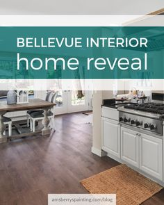 Bellevue Interior Home Reveal Painting Transformation Black Kitchen Cabinets, Kitchen Cabinetry, Kitchen Paint, Black Kitchens, Home Decor Signs, Cheap Home Decor, Home Renovation, Home Remodeling, Cheap Modular Homes