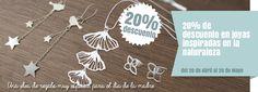 20% de descuento en Joyas inspiradas en la naturaleza