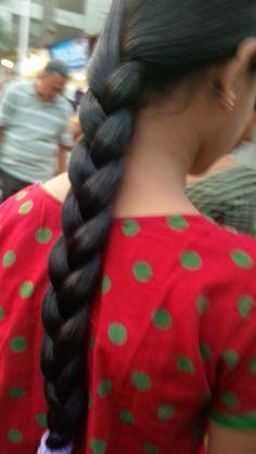 Slick Hairstyles, Indian Hairstyles, Braided Hairstyles, Beautiful Braids, Beautiful Long Hair, Indian Braids, Indian Long Hair Braid, French Fishtail, Super Long Hair