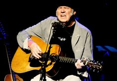 Neil Young performs at the Dolby Theatre in Los Angeles, California.